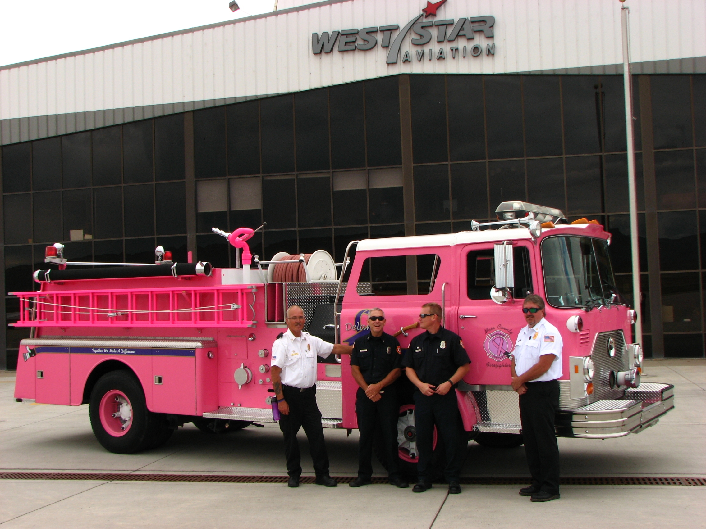 Breast Cancer Awareness Custom Paint Job Delivery West Star Aviation Truck Photos