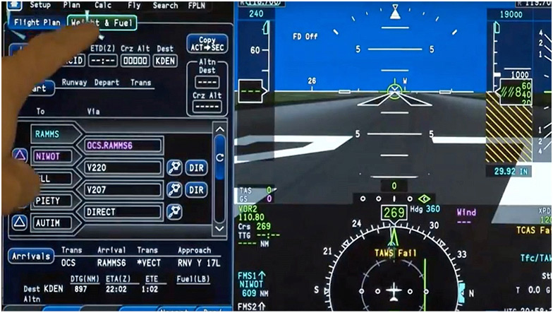 Challenger 604 Full Systems Display and Interface