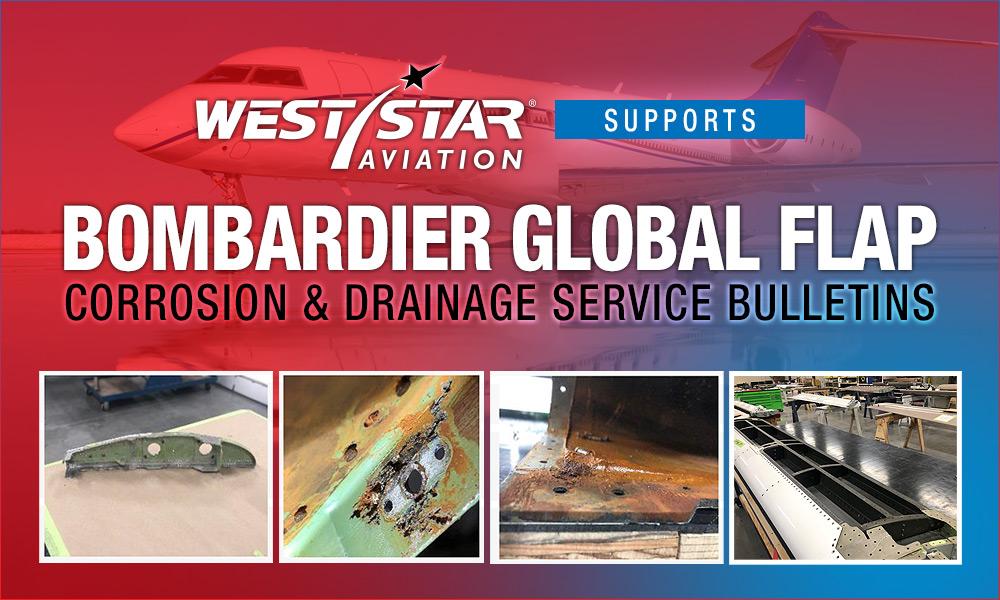 Bombardier Global Flap Corrosion & Drainage Service Bulletins